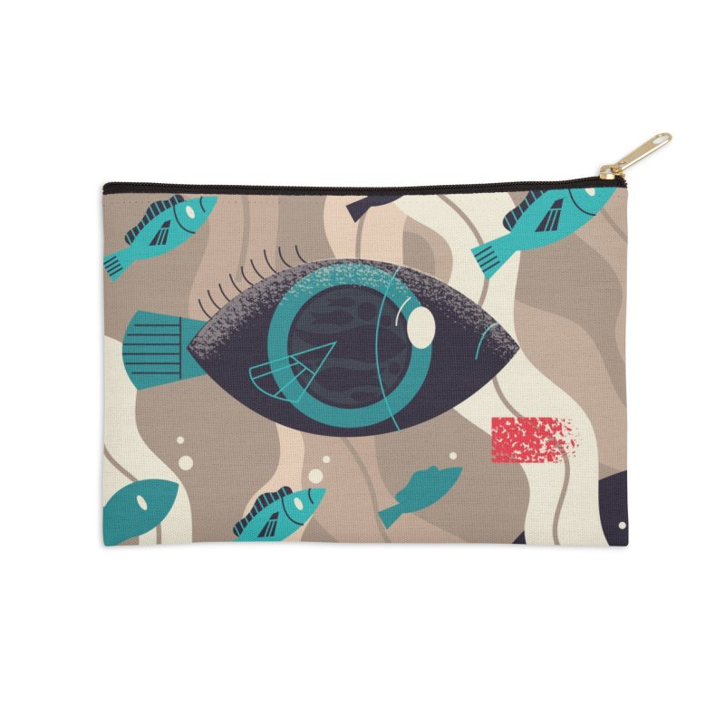 Fish Eye Accessories Zip Pouch by Adamkoon's Artist Shop