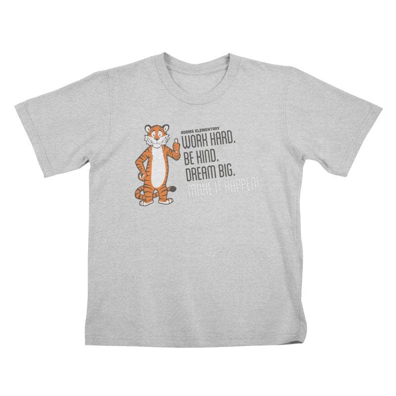 Work Hard. Be Kind. Bream Big. Make It Happen! Kids T-Shirt by Adams PTCO's School Merch Shop