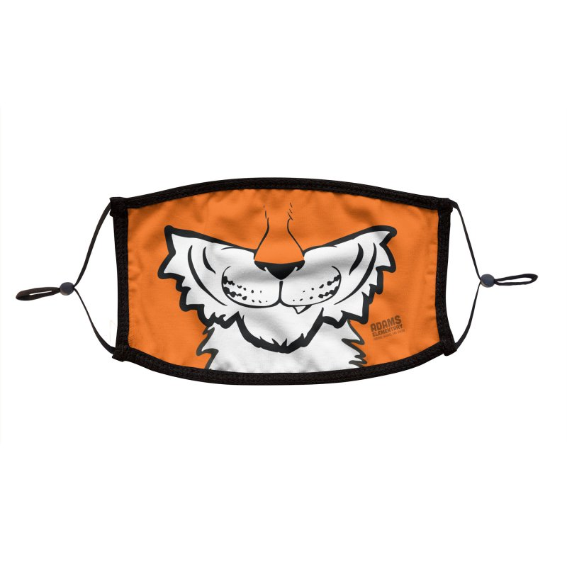 Tiger Face Mask Accessories Face Mask by Adams PTCO's School Merch Shop