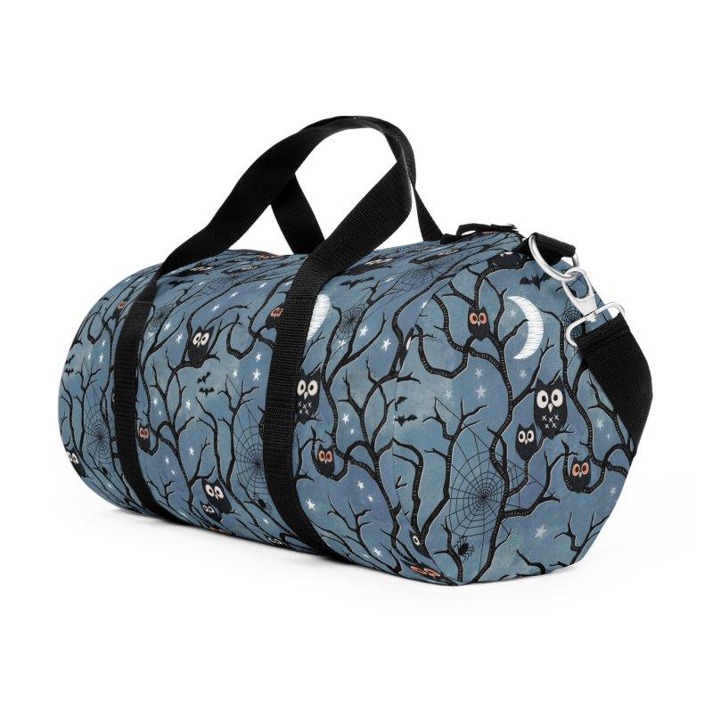 Spooky woods owls Accessories Duffel Bag Bag by AdenaJ