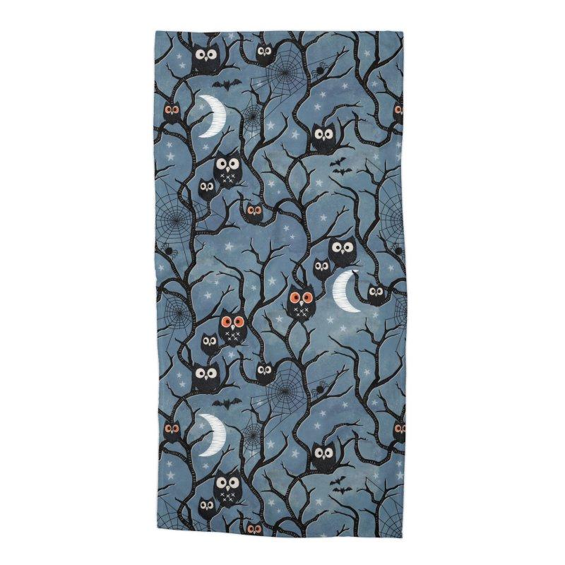 Spooky woods owls Accessories Beach Towel by AdenaJ