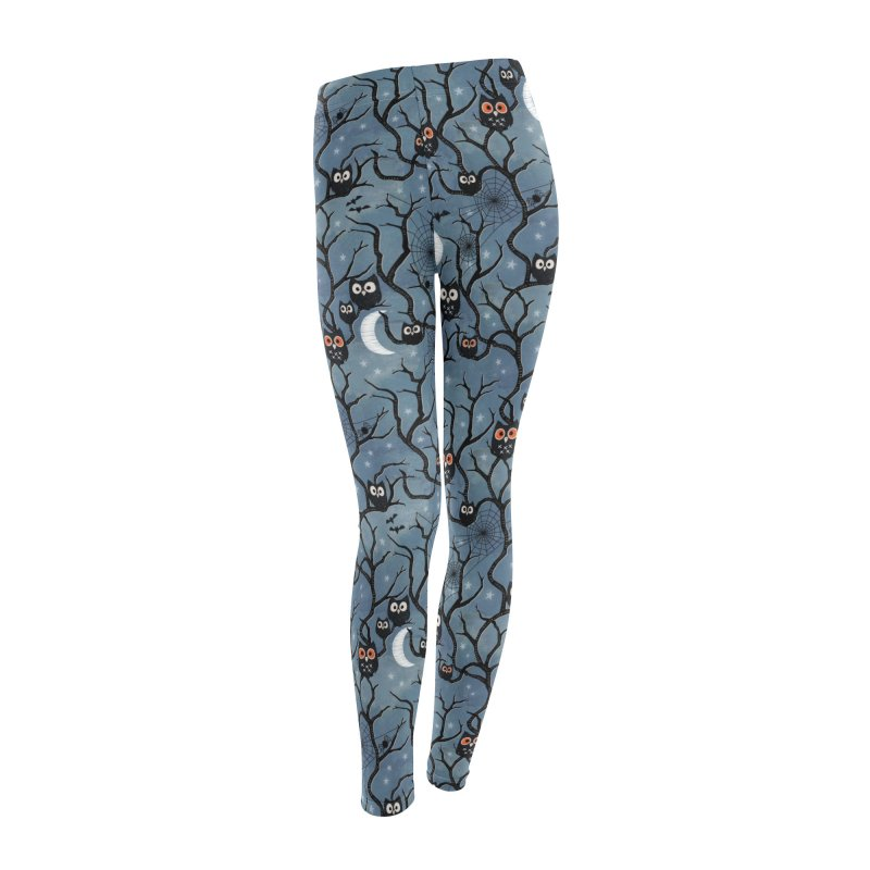 Spooky woods owls Women's Leggings Bottoms by AdenaJ