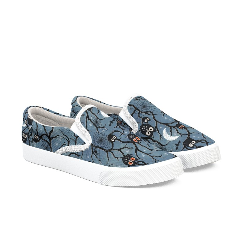 Spooky woods owls Women's Slip-On Shoes by AdenaJ
