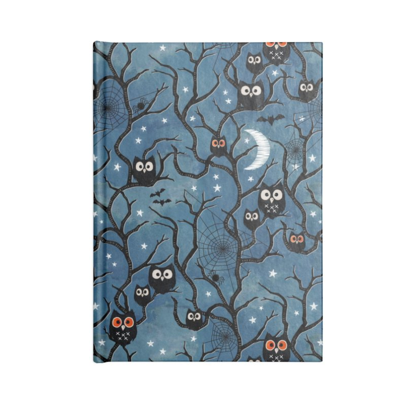 Spooky woods owls Accessories Blank Journal Notebook by AdenaJ