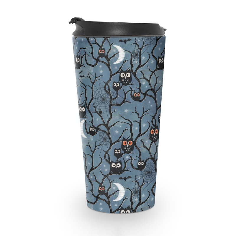 Spooky woods owls Accessories Travel Mug by AdenaJ