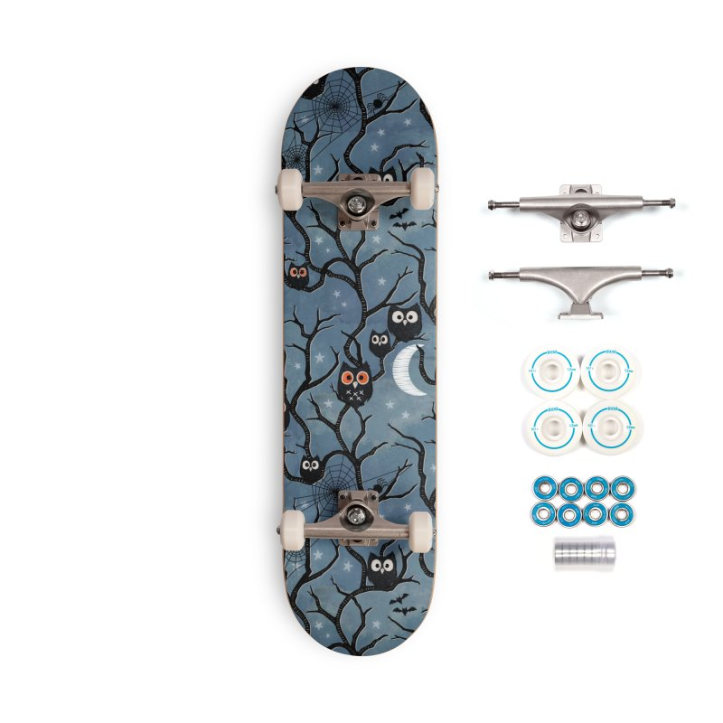 Spooky woods owls Accessories Complete - Basic Skateboard by AdenaJ