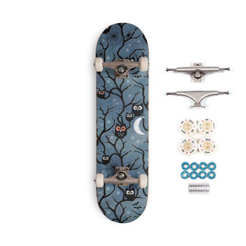 Spooky woods owls Accessories Complete - Premium Skateboard by AdenaJ