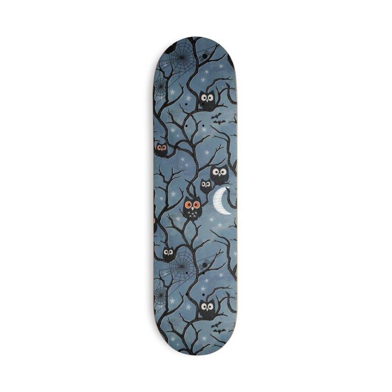 Spooky woods owls Accessories Deck Only Skateboard by AdenaJ