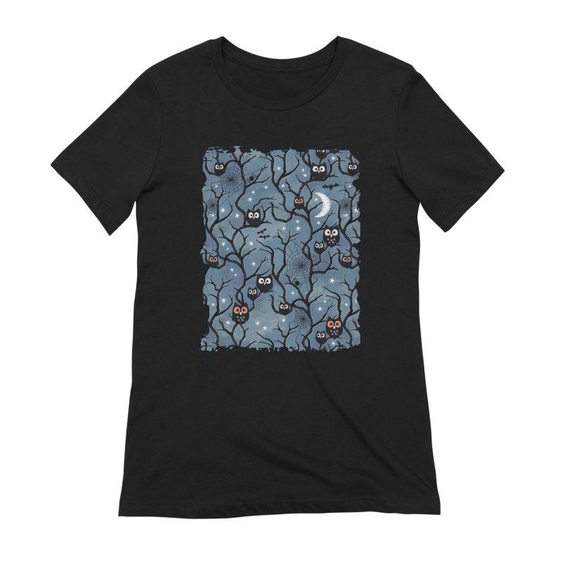 Spooky woods owls Women's Extra Soft T-Shirt by AdenaJ