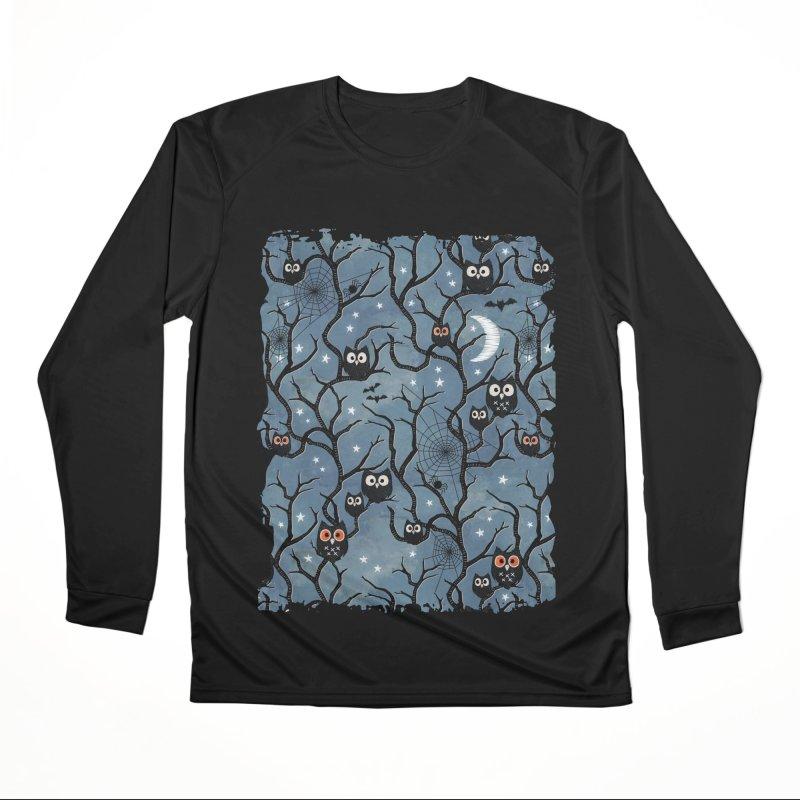 Spooky woods owls Men's Performance Longsleeve T-Shirt by AdenaJ