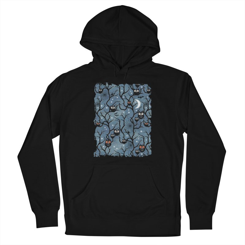 Spooky woods owls Men's French Terry Pullover Hoody by AdenaJ