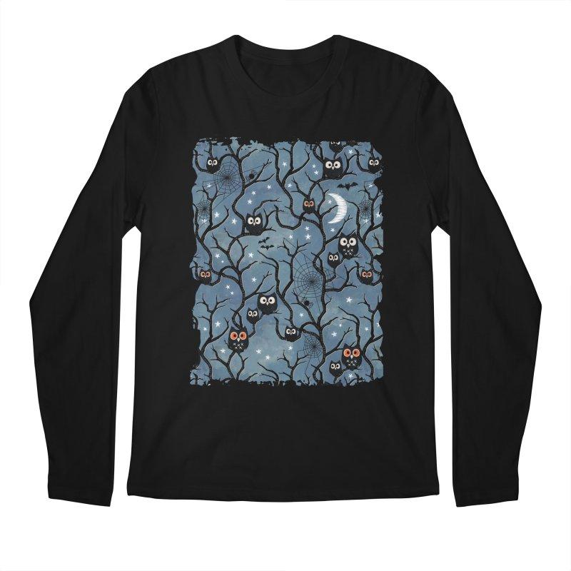 Spooky woods owls Men's Regular Longsleeve T-Shirt by AdenaJ