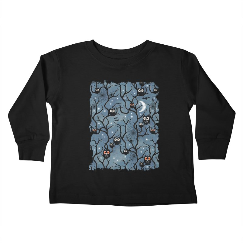 Spooky woods owls Kids Toddler Longsleeve T-Shirt by AdenaJ