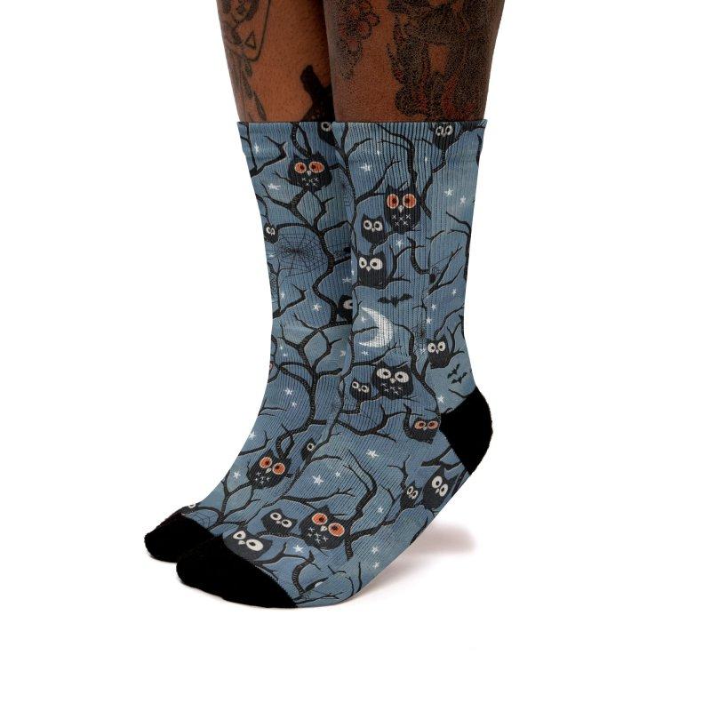 Spooky woods owls Women's Crew Socks by AdenaJ