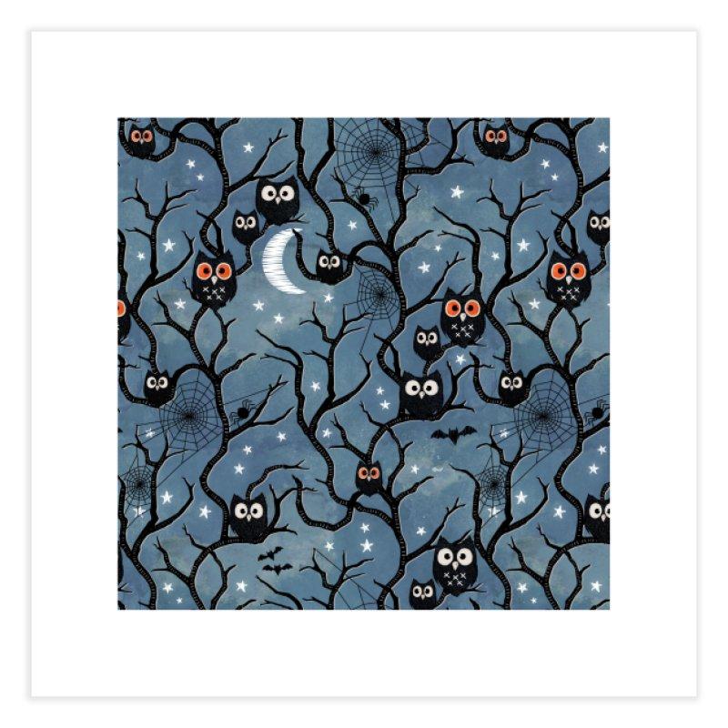 Spooky woods owls Home Fine Art Print by AdenaJ