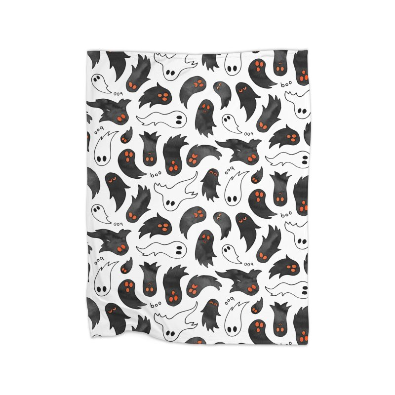 Ghosts Home Fleece Blanket Blanket by AdenaJ