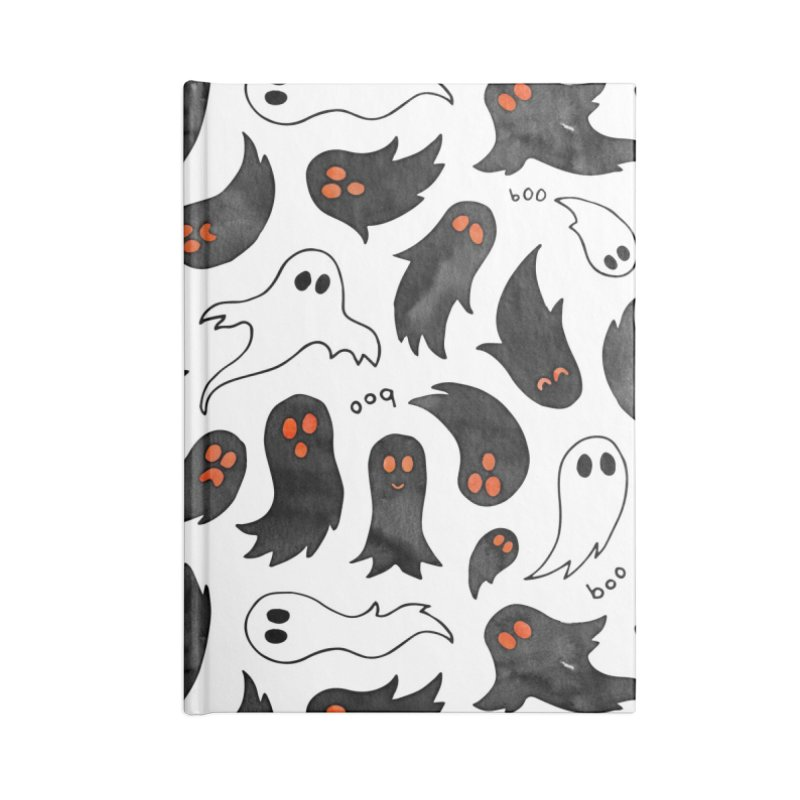 Ghosts Accessories Lined Journal Notebook by AdenaJ
