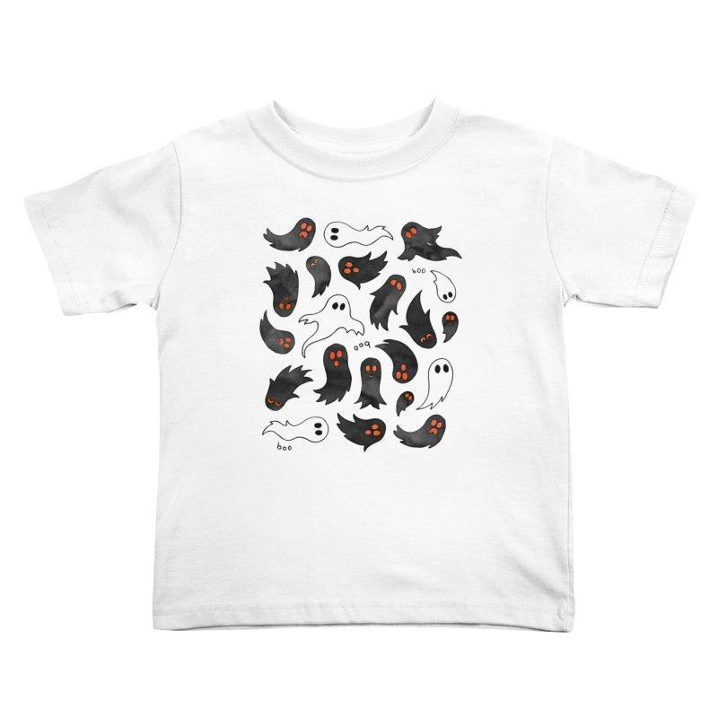 Ghosts Kids Toddler T-Shirt by AdenaJ