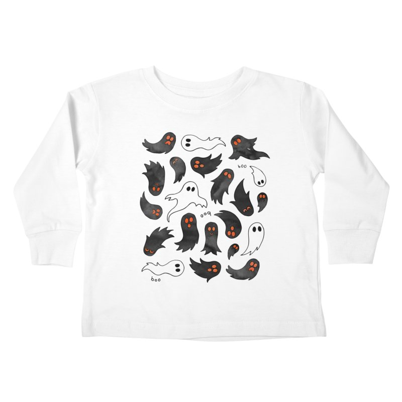 Ghosts Kids Toddler Longsleeve T-Shirt by AdenaJ