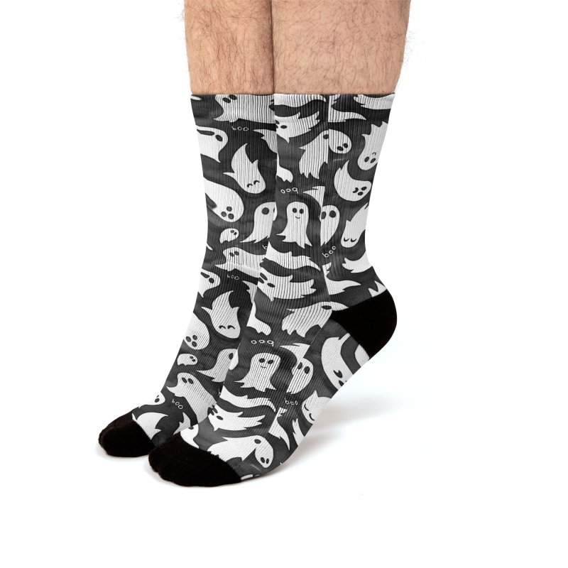 Ghosts Men's Crew Socks by AdenaJ