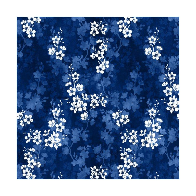 Sakura blossom in deep blue Accessories Bag by AdenaJ