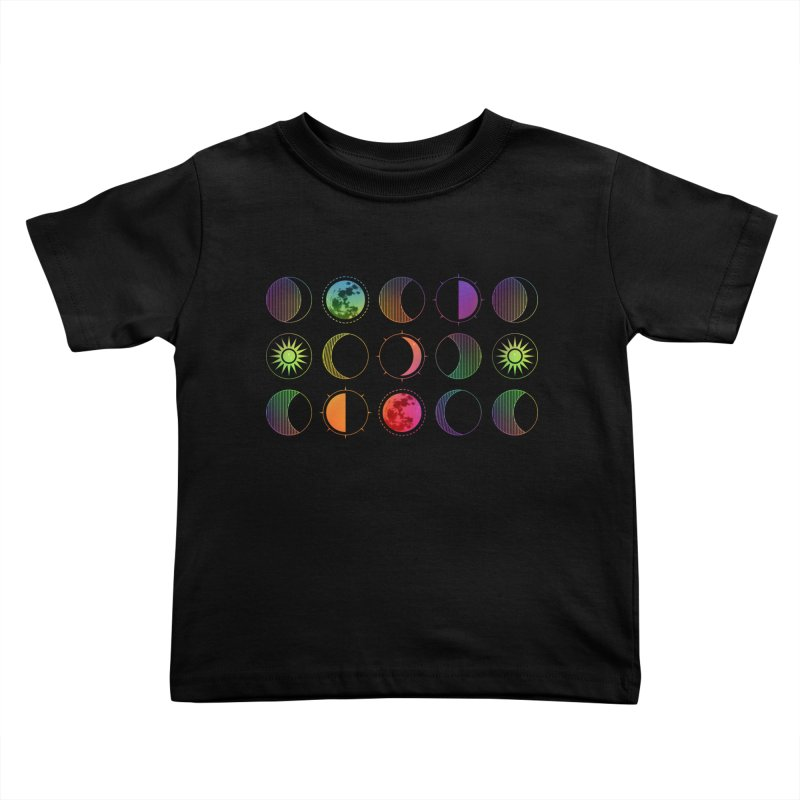 Rainbow moons Kids Toddler T-Shirt by AdenaJ