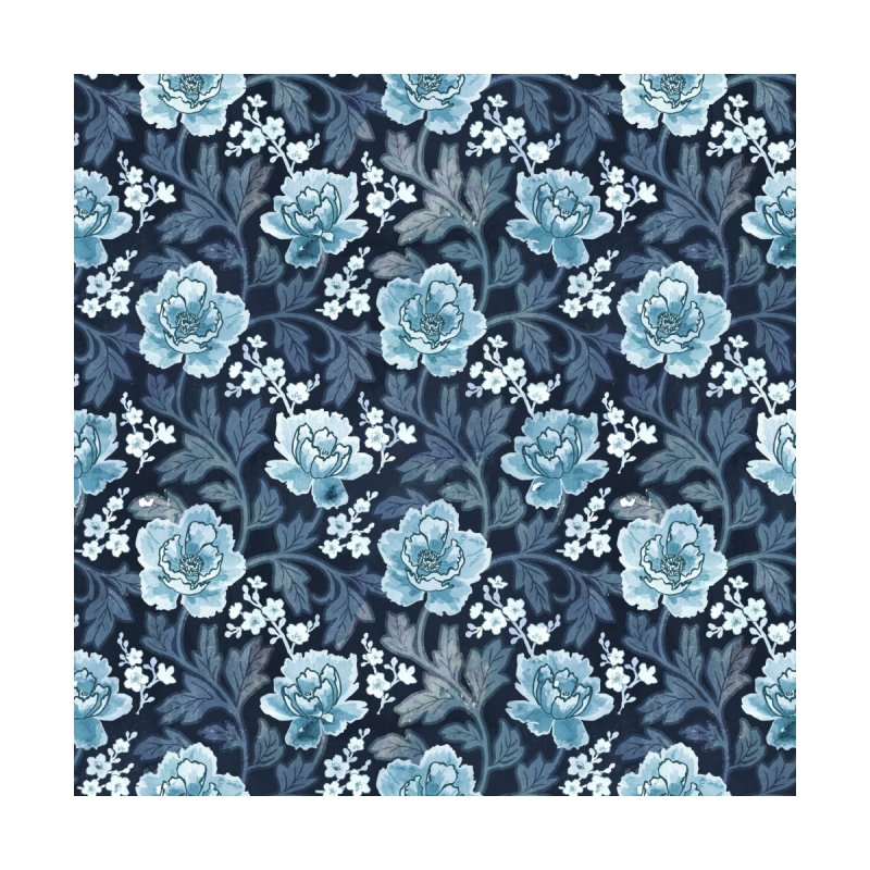 Vintage peony blue Accessories Sticker by AdenaJ