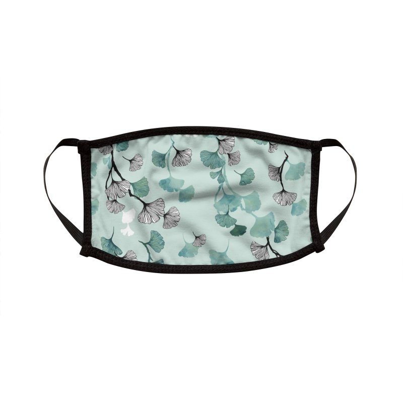 Ginkgo leaves green Accessories Face Mask by AdenaJ