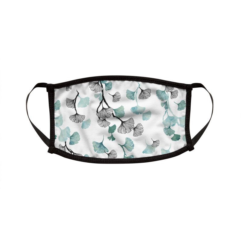 Ginkgo leaves Accessories Face Mask by AdenaJ