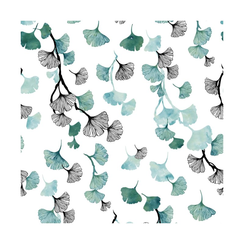 Ginkgo leaves Accessories Zip Pouch by AdenaJ