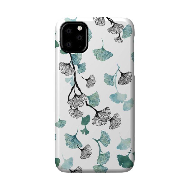 Ginkgo leaves Accessories Phone Case by AdenaJ