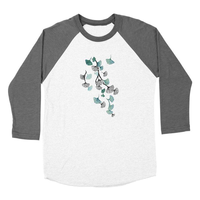 Ginkgo leaves Men's Longsleeve T-Shirt by AdenaJ
