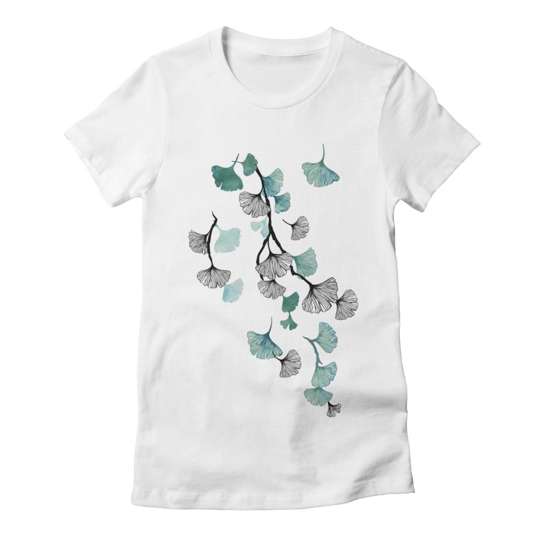 Ginkgo leaves Women's T-Shirt by AdenaJ