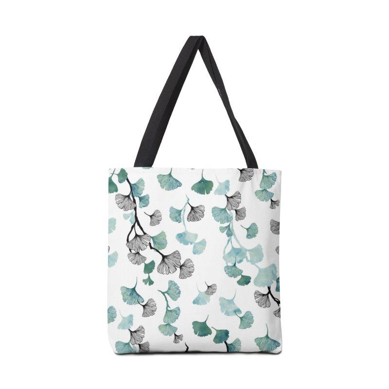 Ginkgo leaves Accessories Bag by AdenaJ