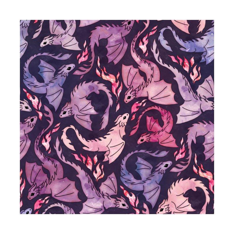 Dragon fire dark pink & purple Accessories Face Mask by AdenaJ
