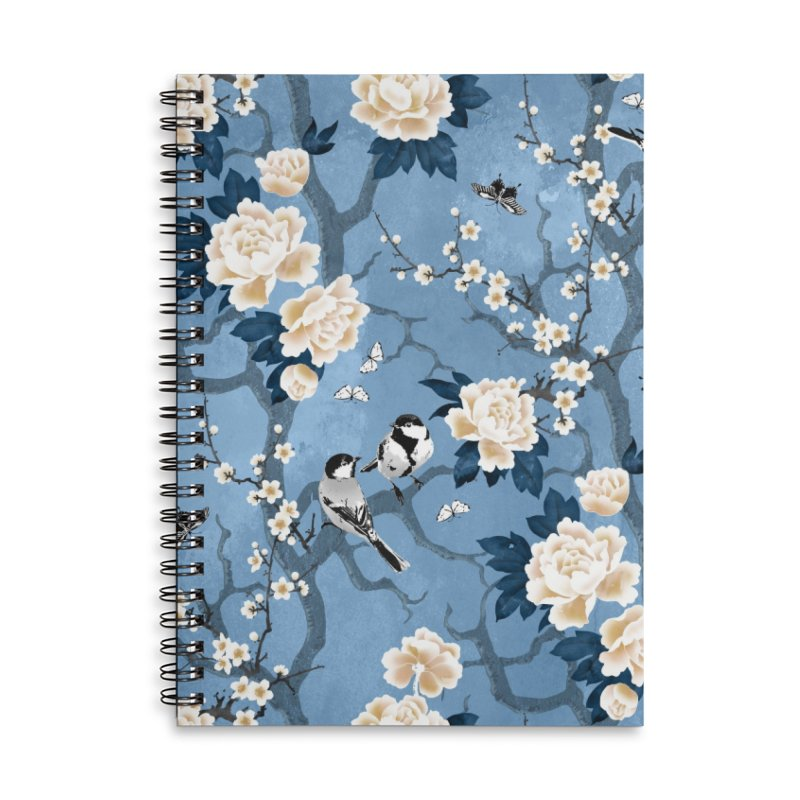 Chinoiserie birds classic blue Accessories Notebook by AdenaJ