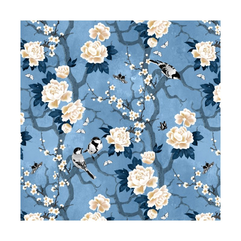 Chinoiserie birds classic blue Home Stretched Canvas by AdenaJ
