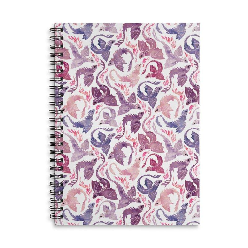 Dragon fire pink & purple Accessories Notebook by AdenaJ