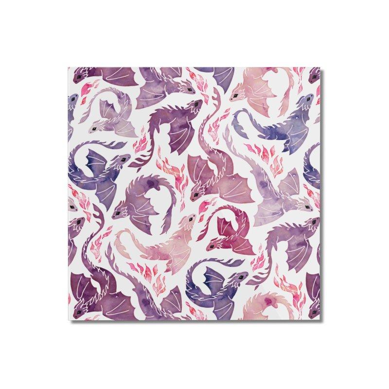 Dragon fire pink & purple Home Mounted Acrylic Print by AdenaJ