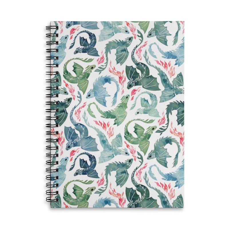 Dragon fire blue & green Accessories Notebook by AdenaJ