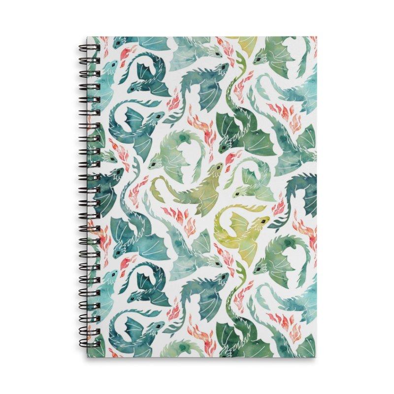 Dragon fire green & yellow Accessories Notebook by AdenaJ