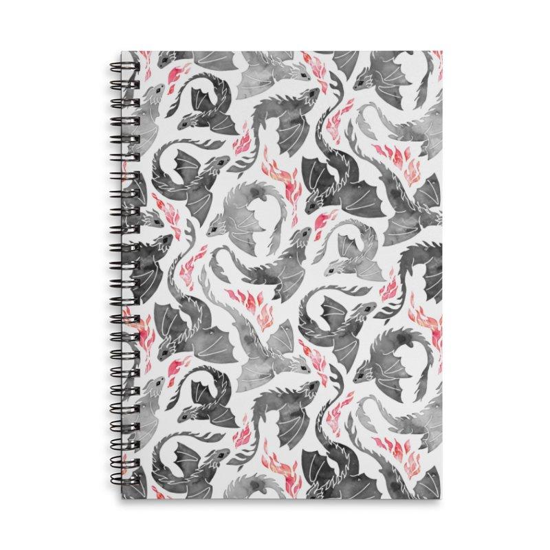 Dragon fire greys & blacks Accessories Notebook by AdenaJ