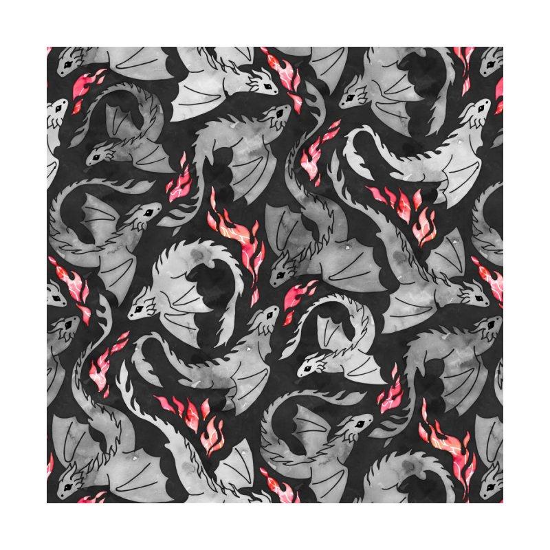 Dragon fire dark grey Home Blanket by AdenaJ