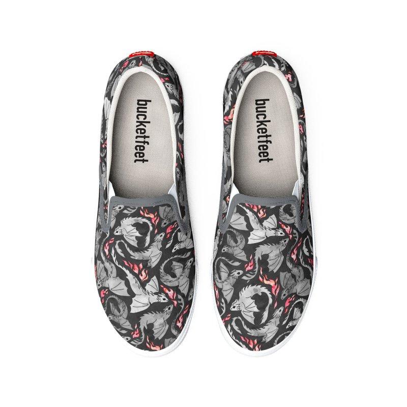 Dragon fire dark grey Men's Shoes by AdenaJ