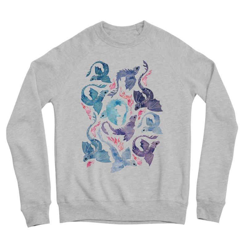 Dragon fire turquoise & purple Women's Sweatshirt by AdenaJ