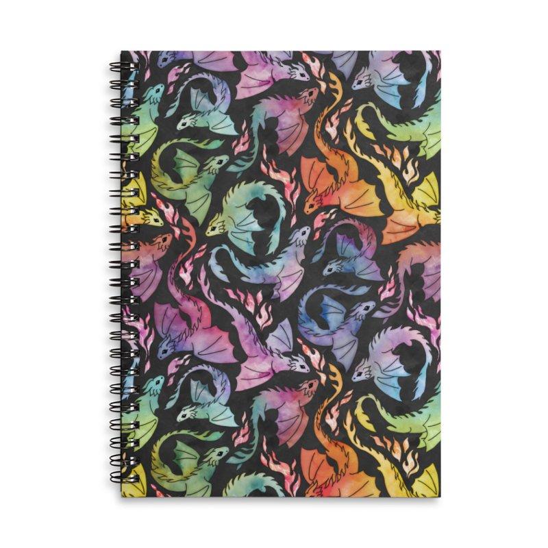Dragon fire dark rainbow Accessories Notebook by AdenaJ