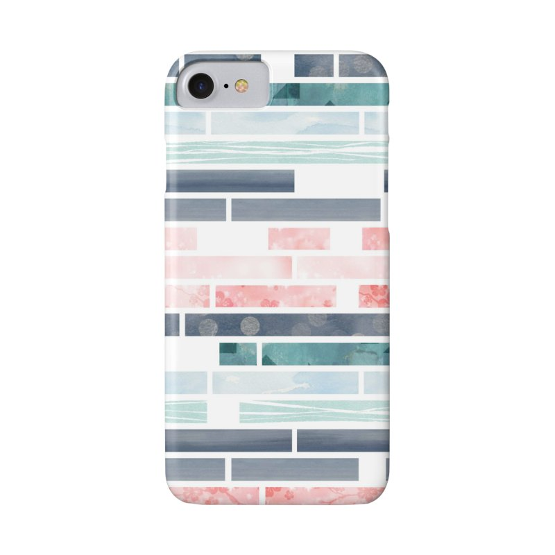 Abstract cherry blossom stripes in iPhone 7 Phone Case Slim by AdenaJ