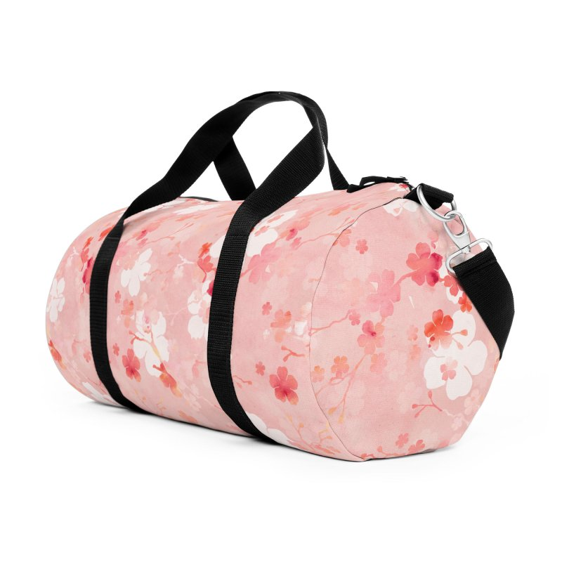 Pink Chinese cherry blossom Accessories Duffel Bag Bag by AdenaJ