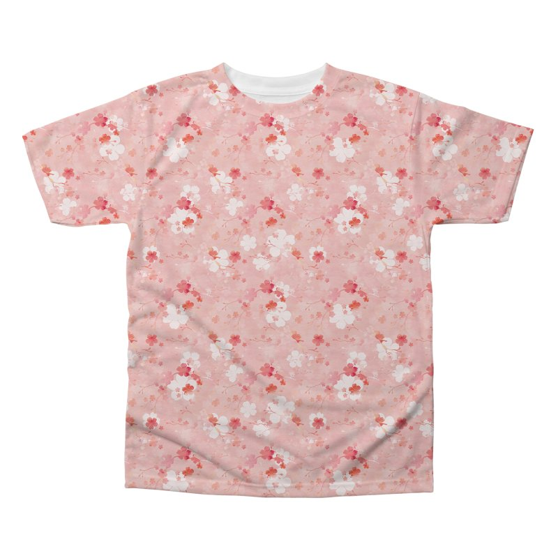 Pink Chinese cherry blossom Men's Regular All Over Print by AdenaJ