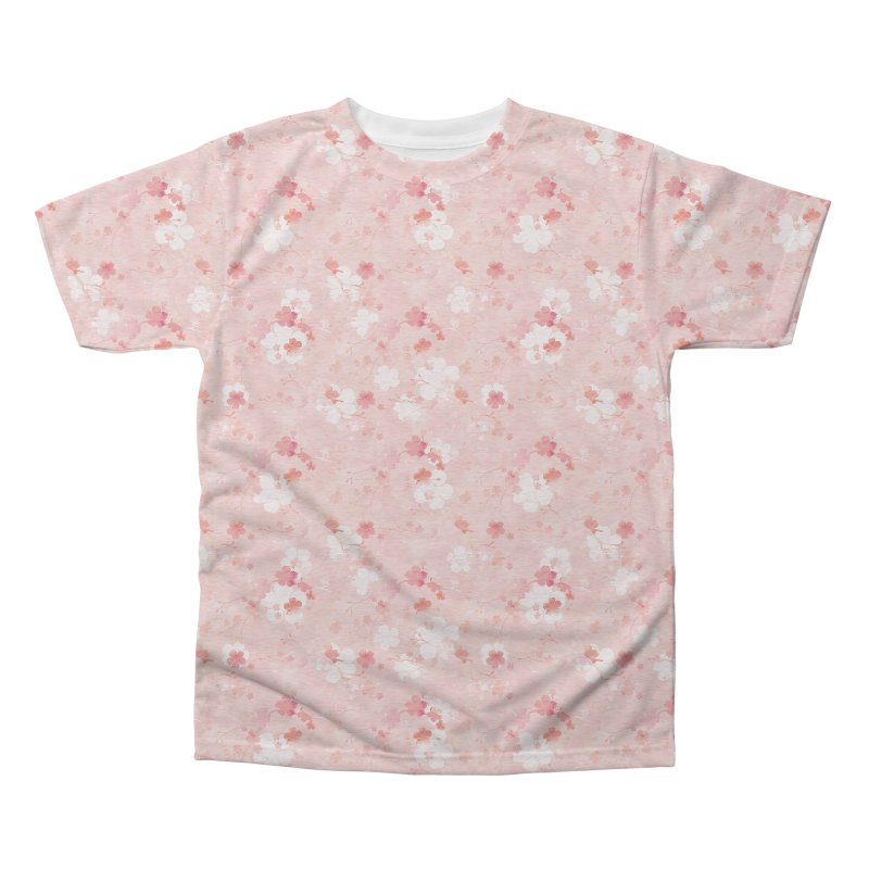 Pink Chinese cherry blossom Men's Triblend All Over Print by AdenaJ